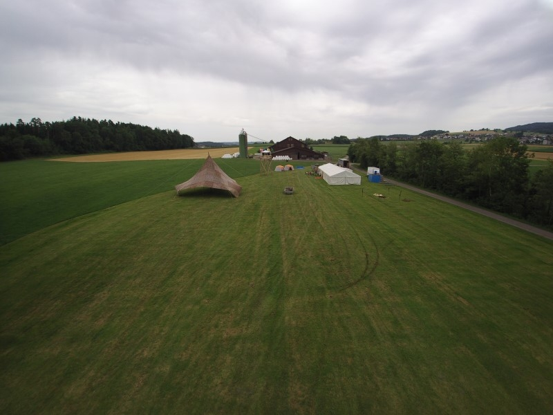 Fotos vom Lagerplatz mit einer Drohne